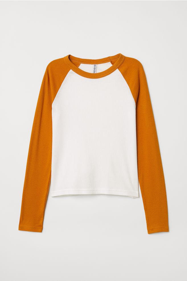 fc4770e73ef6c5 Fitted Baseball Shirt - Dark yellow - Ladies