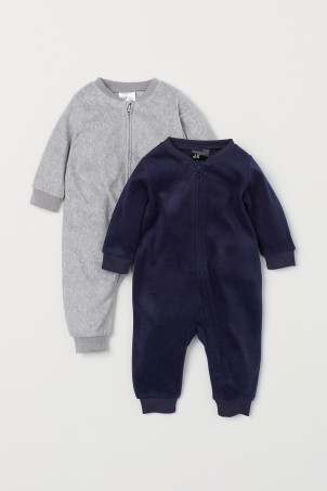 2-pack fleece pyjamas