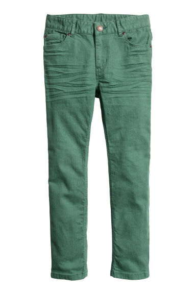 Twill trousers - Green - Kids | H&M CN