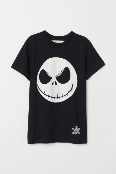 T-shirt with a motif - Black/Jack Skellington - Kids | H&M
