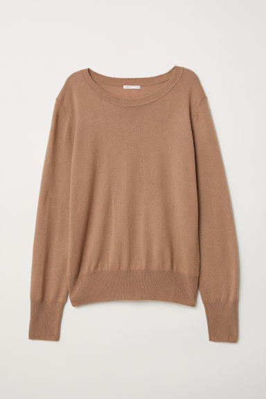 Wool-blend Sweater - Camel - Ladies | H&M US
