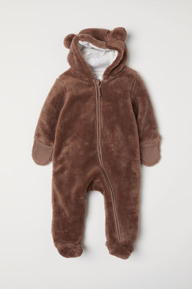Pile all-in-one suit - Brown/Bear - Kids | H&M CN