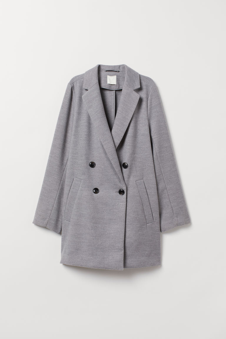 Double-breasted coat - Grey marl - Ladies | H&M CN