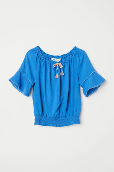 Bohemian top - Blue - Kids | H&M