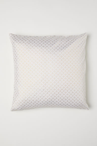 Cotton twill cushion cover - White/Patterned - Home All | H&M CN