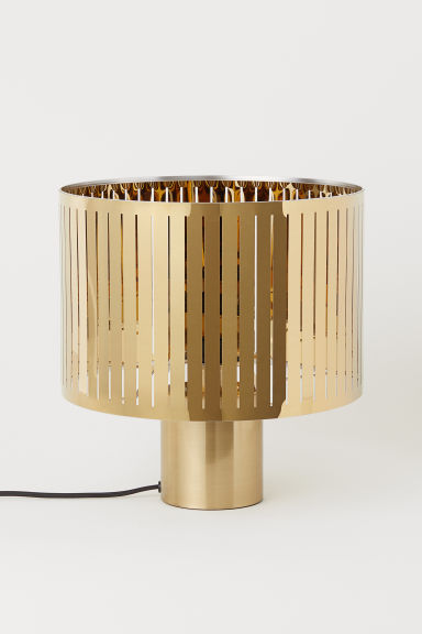 Grande lampe de table en métal - Doré - Home All | H&M FR
