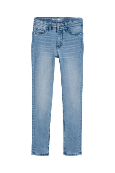 Skinny Fit High Jeans - 浅牛仔蓝 - Kids | H&M CN