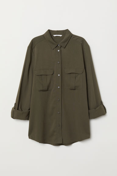 Camicia - Khaki green - DONNA | H&M IT