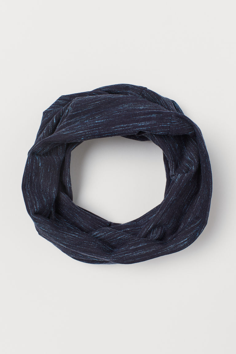 Jersey tube scarf - Dark blue marl - Kids | H&M