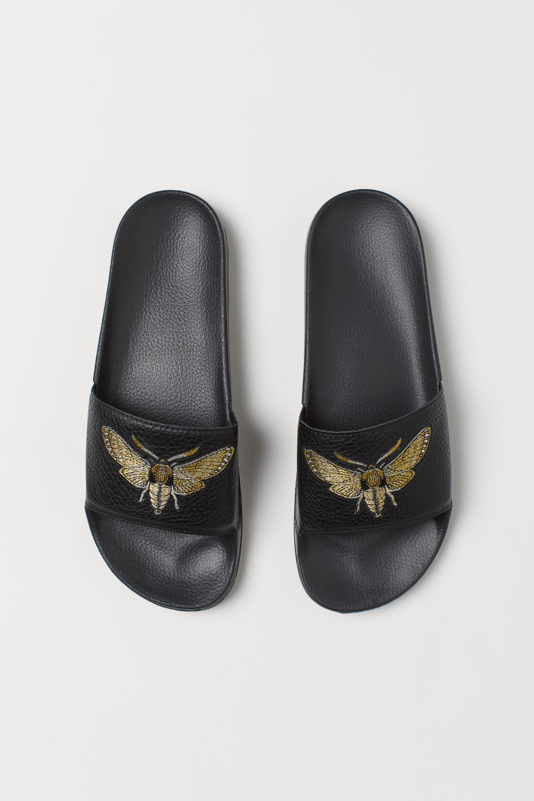 Pool shoes - Black/Insect -  | H&M CN