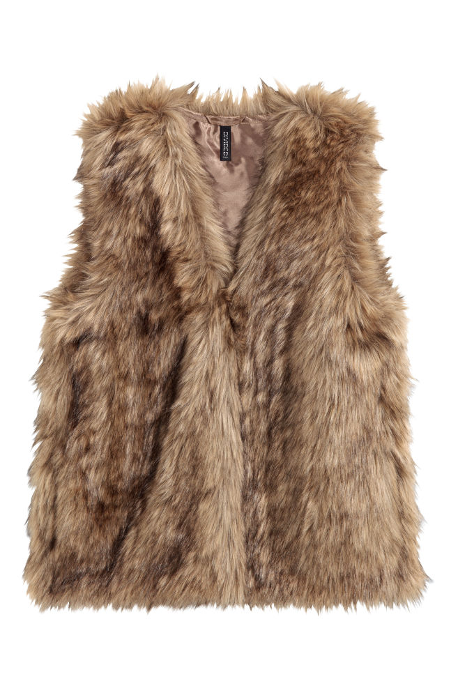 45f5cfdbd49b Faux Fur Vest - Light brown - Ladies