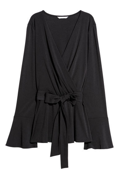 Wrapover top - Black - Ladies | H&M