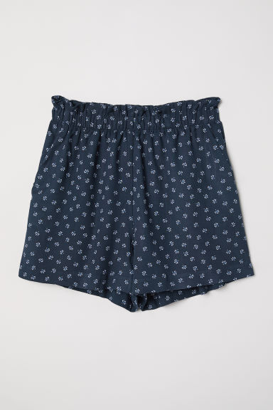 Wide shorts - Dark blue/Patterned - Ladies | H&M