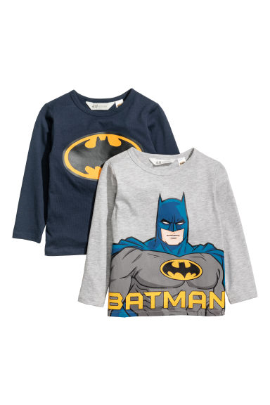 T-shirts en jersey, lot de 2 - Gris clair/Batman -  | H&M CH