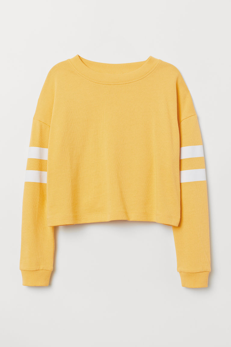 Printed sweatshirt - Yellow - Kids | H&M CN