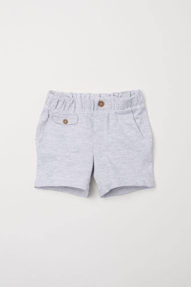 Piqué shorts - Light grey marl -  | H&M CN