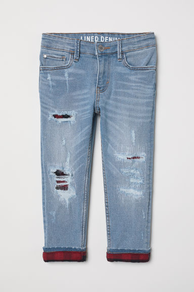 Skinny Fit Lined Jeans - Denim blue - Kids | H&M