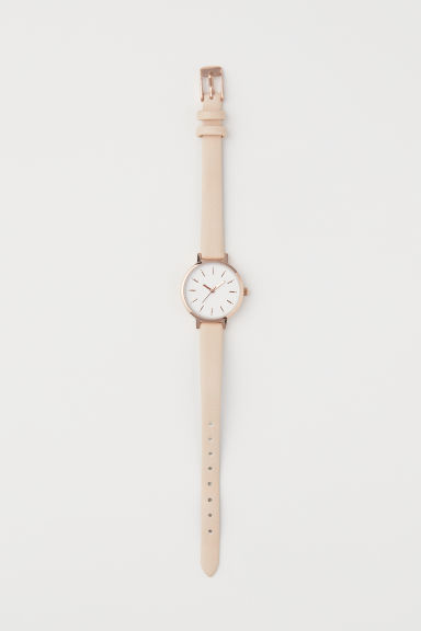 Watch - Light beige/Rose gold-coloured - Ladies | H&M GB