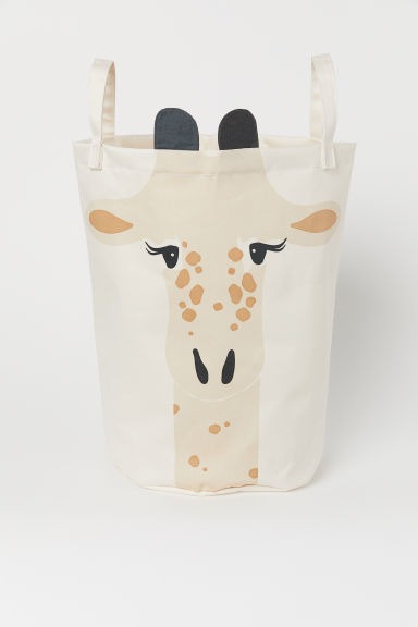 Printed storage basket - Beige/Giraffe - Home All | H&M GB