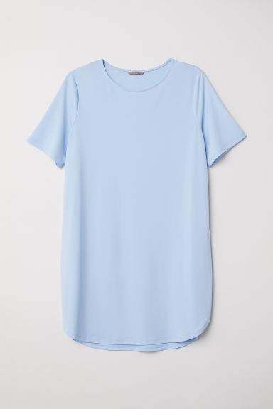 H&M+ Short-sleeved tunic - Light blue - Ladies | H&M CN