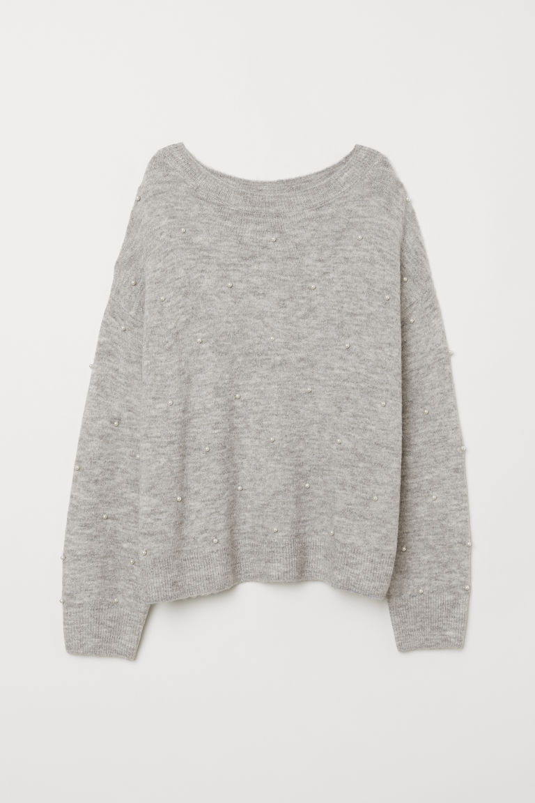 Fine-knit Sweater - Light gray melange - Ladies | H&M US