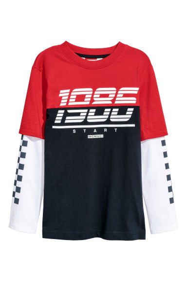 Jersey top - Dark blue - Kids | H&M