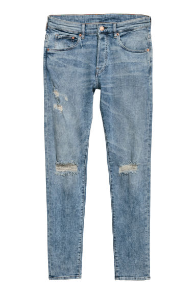 Skinny Jeans - Licht denimblauw/trashed - HEREN | H&M BE