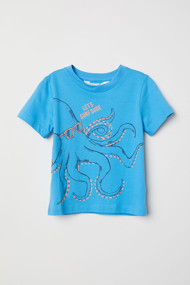 T-shirt con stampa - Blu/polpo -  | H&M IT