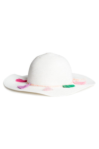 Straw hat - White -  | H&M