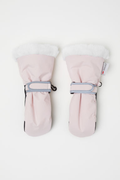 Ski mittens - Light pink -  | H&M