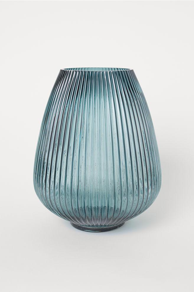 Large Glass Vase Dark Teal Home All Hm Us