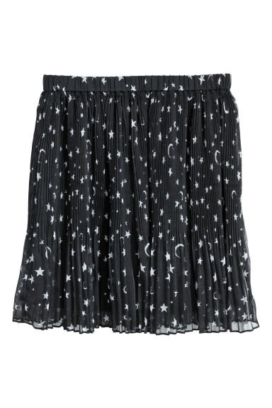 Pleated skirt - Dark blue/Stars - Ladies | H&M CN