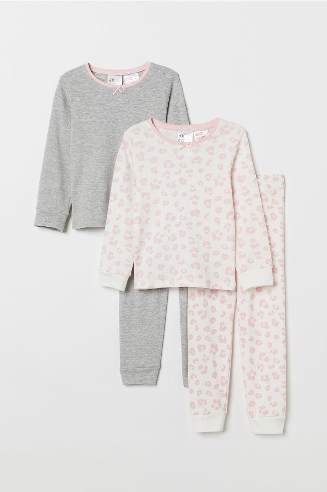 9e588379ee 2-pack jersey pyjamas - Pink Leopard print - Kids