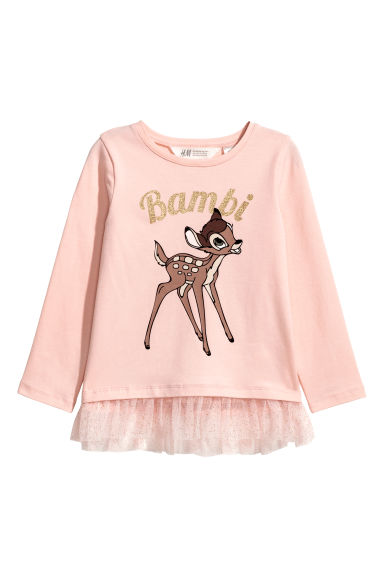 Jersey top - Powder pink/Bambi - Kids | H&M CN