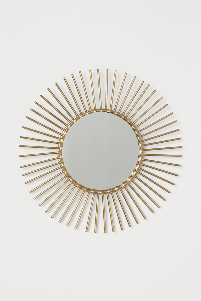 Round Mirror - Gold-colored -  | H&M US