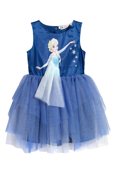 Abito con gonna in tulle - Blu/Frozen -  | H&M CH