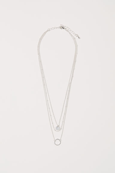 Three-strand necklace - Silver-coloured - Ladies | H&M