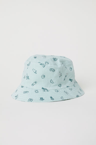 Fisherman's hat - Light green/Patterned -  | H&M CN