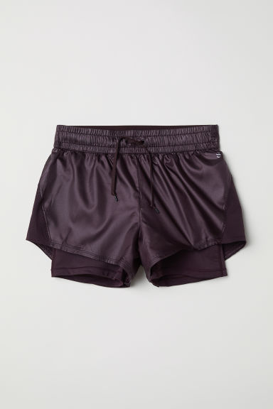 Running shorts - Plum - Ladies | H&M