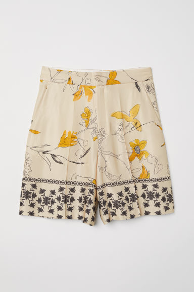 Patterned shorts - Beige/Patterned - Ladies | H&M
