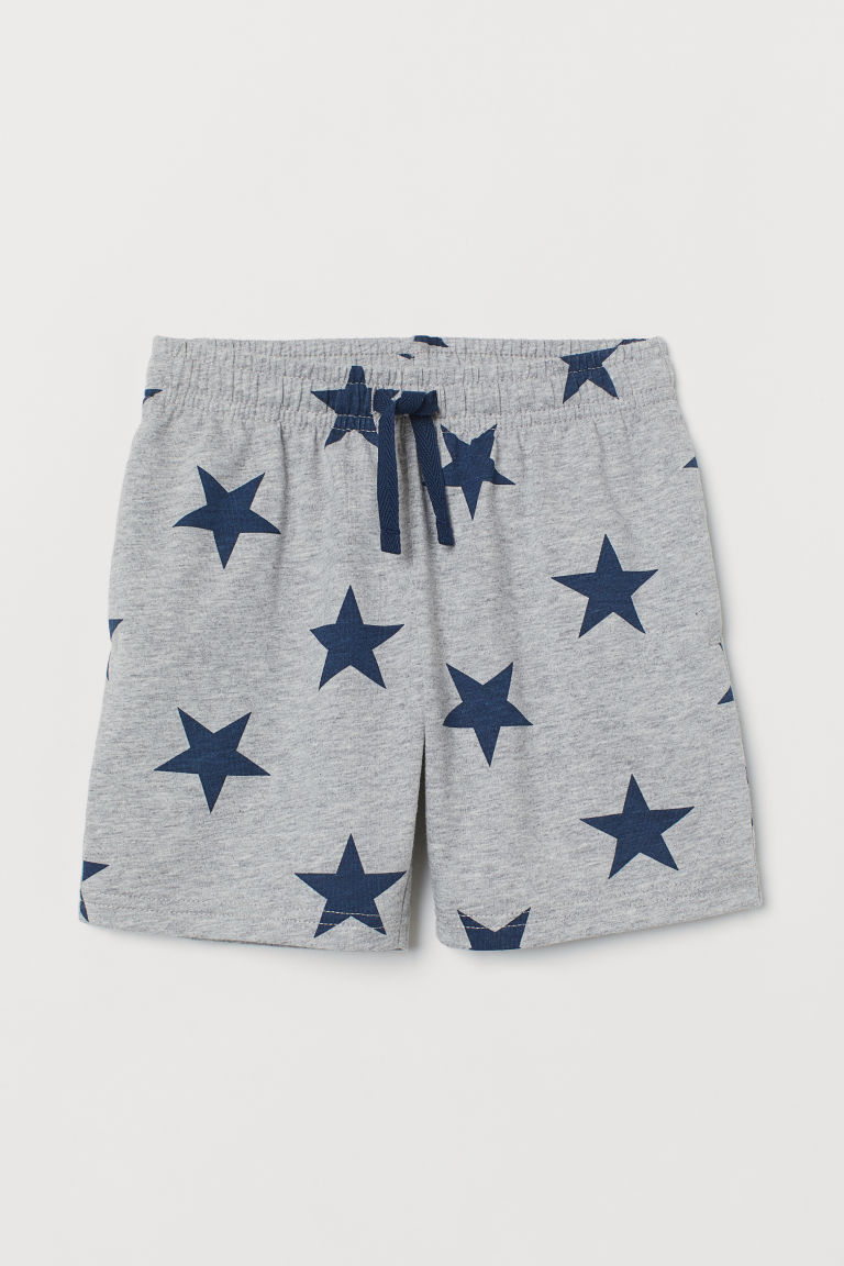 Shorts in jersey - Grigio mélange/Stelle - BAMBINO | H&M CH