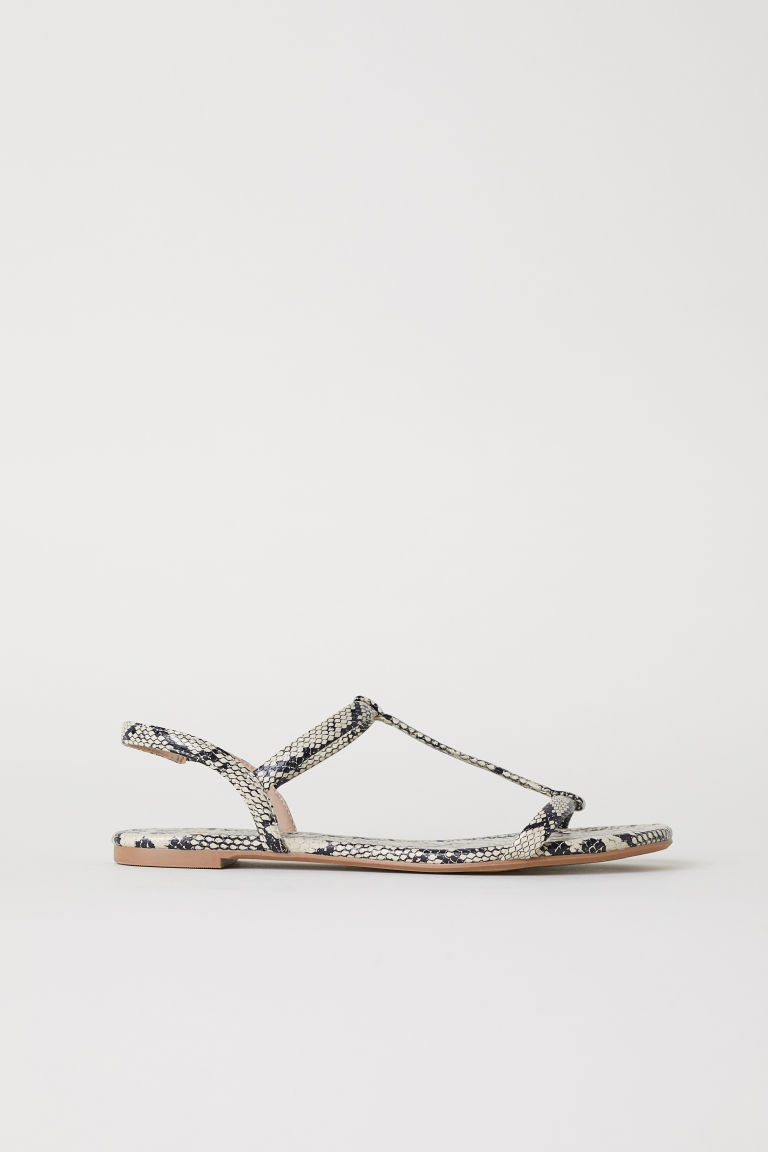 Sandals - Snakeskin-patterned - Ladies | H&M