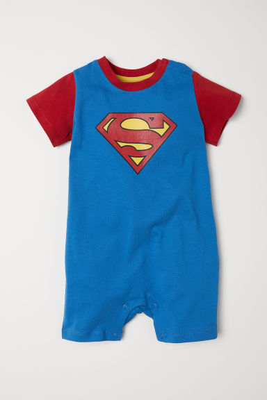 Jersey all-in-one pyjamas - Blue/Superman - Kids | H&M