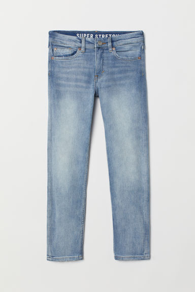 Superstretch Skinny Fit Jeans - Light denim blue/Washed - Kids | H&M