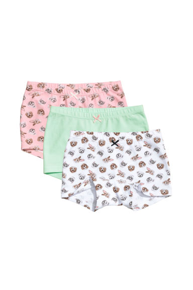 3-pack boxer briefs - Light green/Animals - Kids | H&M