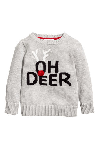 Knitted jumper - Grey marl - Kids | H&M