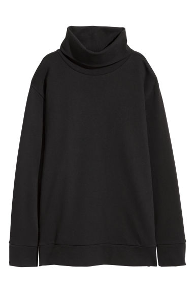 Polo-neck top - Black -  | H&M