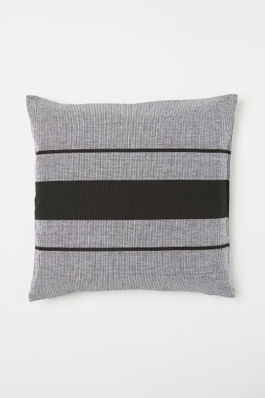 Copricuscino jacquard - Nero/bianco fantasia - HOME | H&M IT