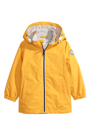 Hooded outdoor jacket - Yellow -  | H&M GB