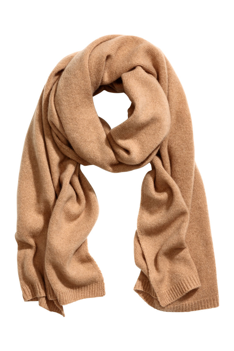 Cashmere scarf - Camel - Ladies | H&M GB
